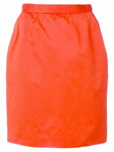 Yves Saint Laurent Pre-Owned straight short skirt - ORANGE