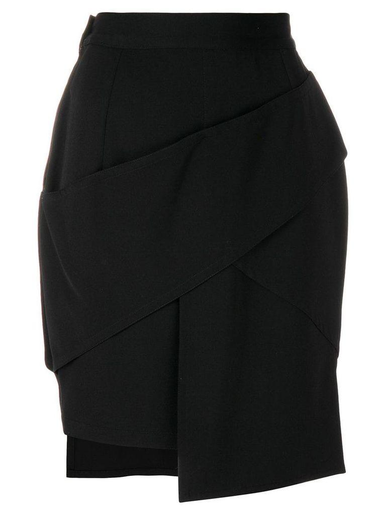 Versace Vintage asymmetric short skirt - Black