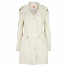 Moncler Audrey Ecru Twill Coat