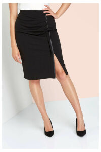 Ruffle Detail Pencil Skirt