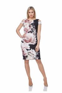 Statement Cold Shoulder Floral Dress