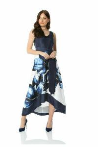Dip Hem Floral Maxi Dress