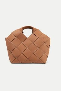 Loewe - Woven Textured-leather Tote - Brown