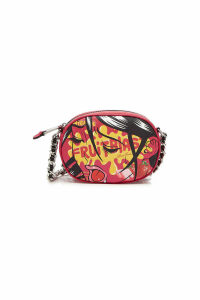 Moschino Printed Fabric Shoulder Bag