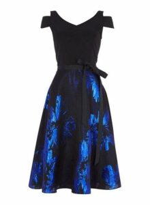 Womens *Roman Originals Royal Blue Skater Dress- Blue, Blue