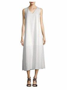 Janae Linen Midi Shift Dress