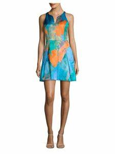 Racerback Print A-Line Dress