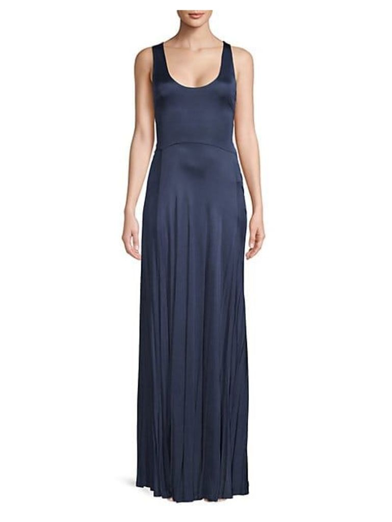 Leora Pleated Jersey Gown
