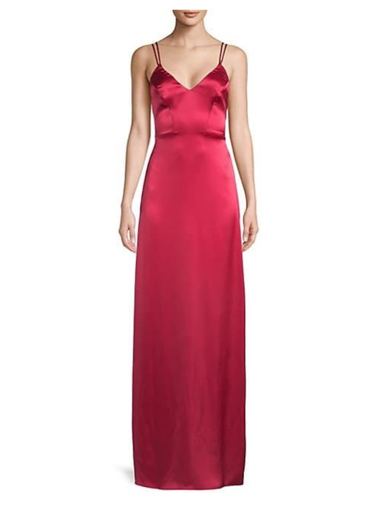 Noel Strappy Ruffled Gown