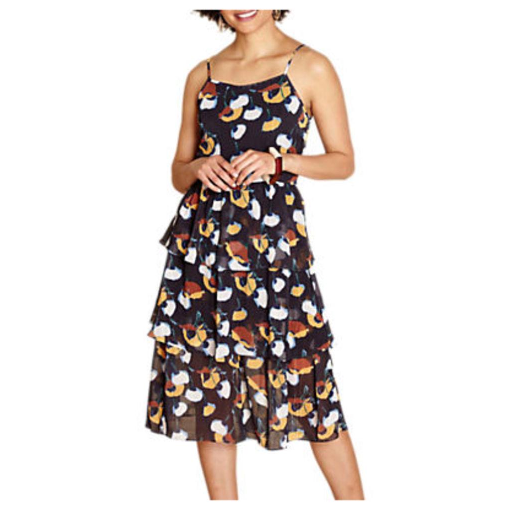 Yumi Layered Ruffle Dress, Black