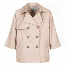 Molly Bracken  SUEID  women's Trench Coat in Beige
