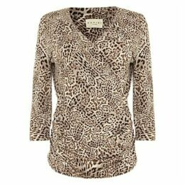 Damsel in a Dress Leopard Kacey Top, Brown