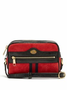 Gucci - Ophidia Mini Suede Cross Body Bag - Womens - Red