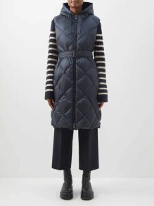 Givenchy - Logo Print Striped Cotton Blend Sweater - Womens - Red Multi