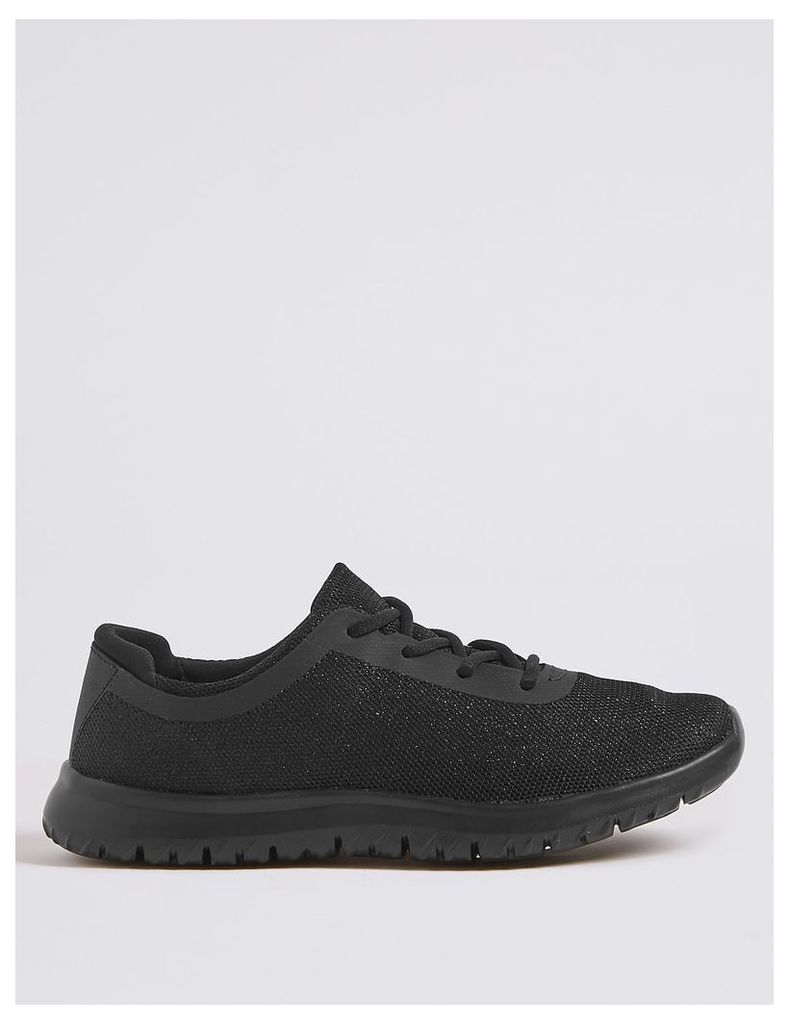 Light As Air Shimmer Lace-up Trainers
