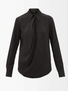 Vita Kin - Bellflower Embroidered Layered Linen Dress - Womens - Navy Multi
