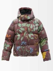 Duro Olowu - Floral Print Silk Gazar Skirt - Womens - Green Multi
