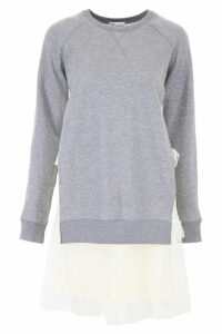 RED Valentino Sweatshirt Dress With Tulle
