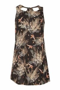 Izabel London Cut-Out Neck Shift Dress