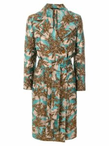 Tagliatore jacquard double-breasted coat - Blue