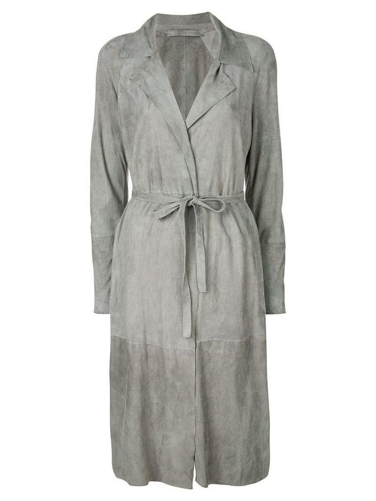 Salvatore Santoro belted coat - Grey