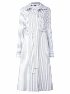 Jil Sander striped boxy trench coat - Blue