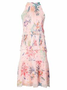 Nicole Miller halterneck floral print dress - Pink