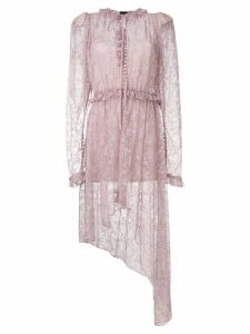 Magda Butrym asymmetric lace Morelia dress - Pink