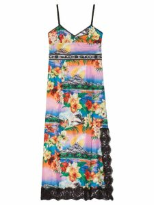 Gucci Hawaiian print silk dress - Multicolour