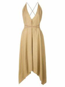 Caravana Yatzil belt dress - Brown
