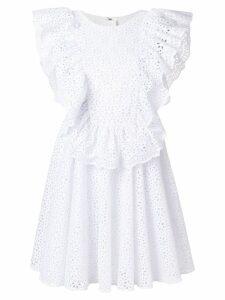 MSGM openwork lace dress - White
