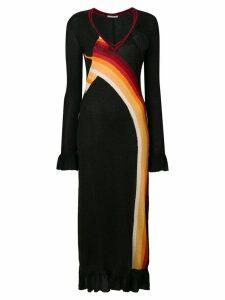 Marco De Vincenzo graphic astro sweater dress - Black