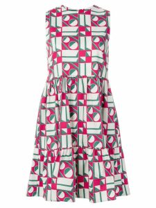 La Doublej geometric print dress - White