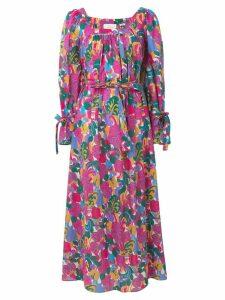 La Doublej long sleeve printed dress - Pink