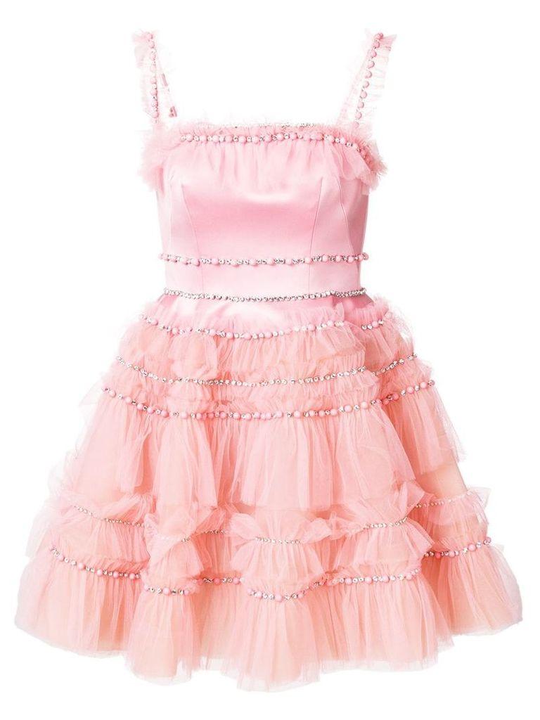 Viktor & Rolf Soir embellished tulle ruffle dress - Pink