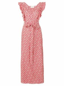 La Doublej geometric print wrap dress - PINK