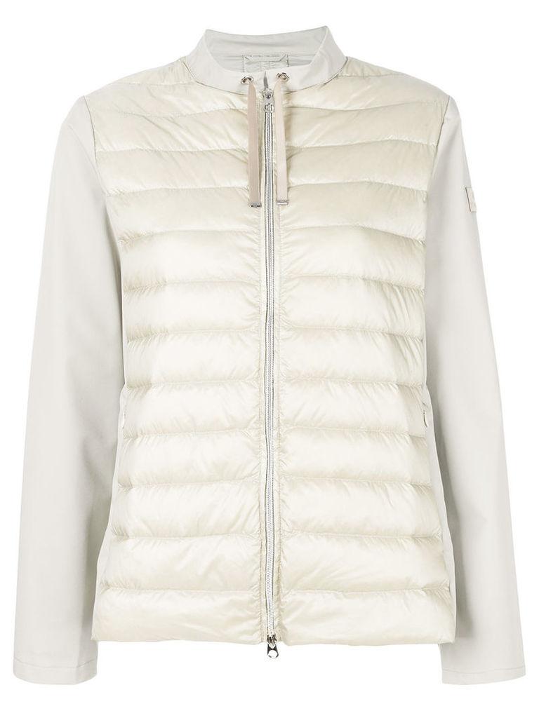 Hetregò panelled puffer jacket - Neutrals