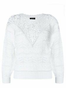 Isabel Marant Camden crochet jumper - White