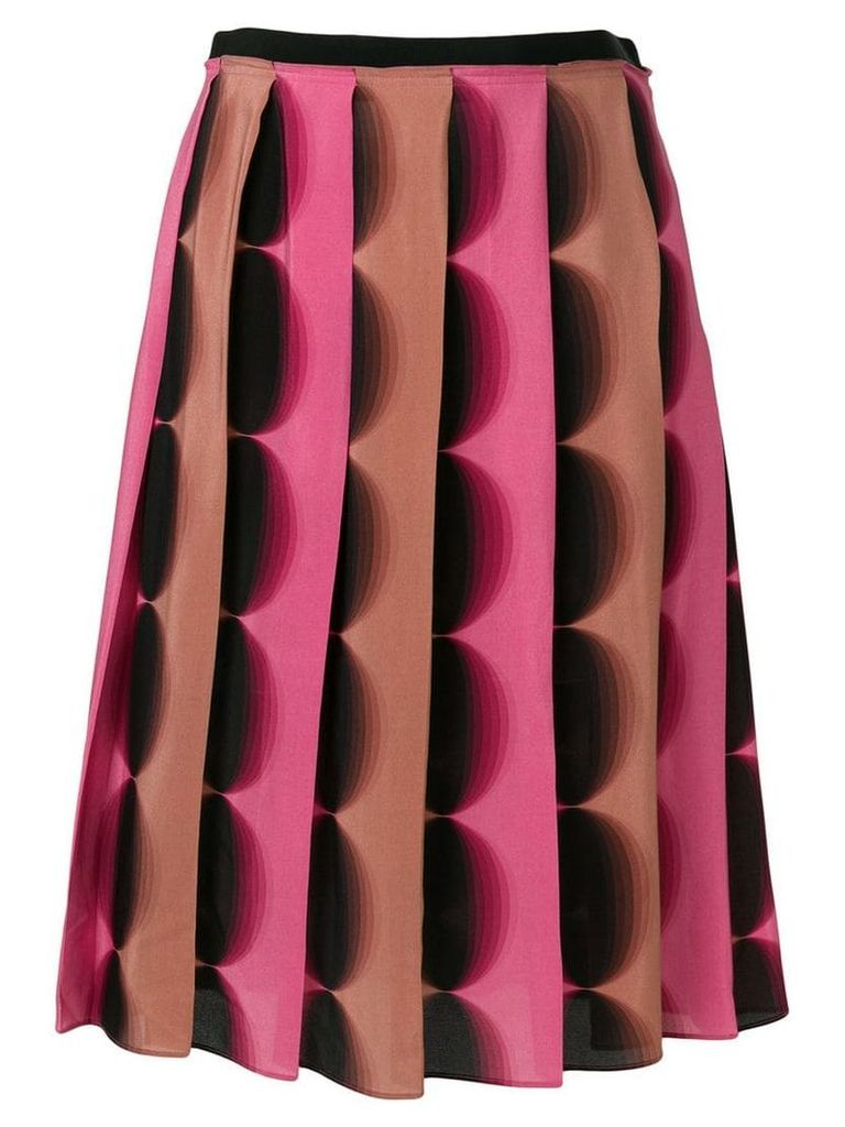 Marco De Vincenzo pleated A-line skirt - Pink