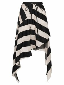 Marques'Almeida Maled Asymmetric Stripe Skirt - Black