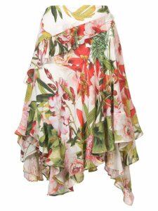 Josie Natori Paradise Floral ruffle skirt - Multicolour