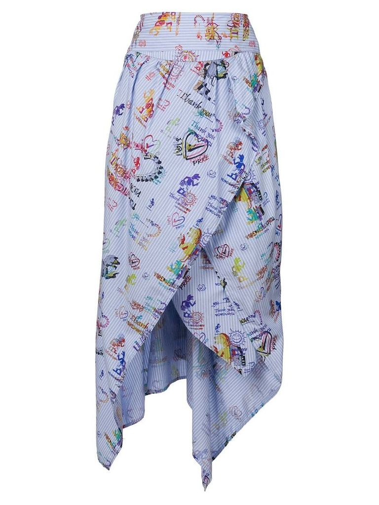 Vivienne Westwood Anglomania printed asymmetric midi skirt -