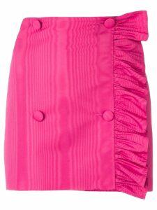 MSGM asymmetric ruffle mini skirt - Pink
