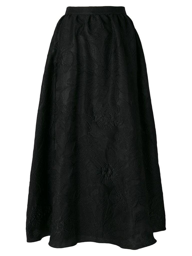 Noon By Noor brocade full ankle-length true waist skirt - Black