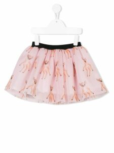 Caroline Bosmans print flared skirt - Pink