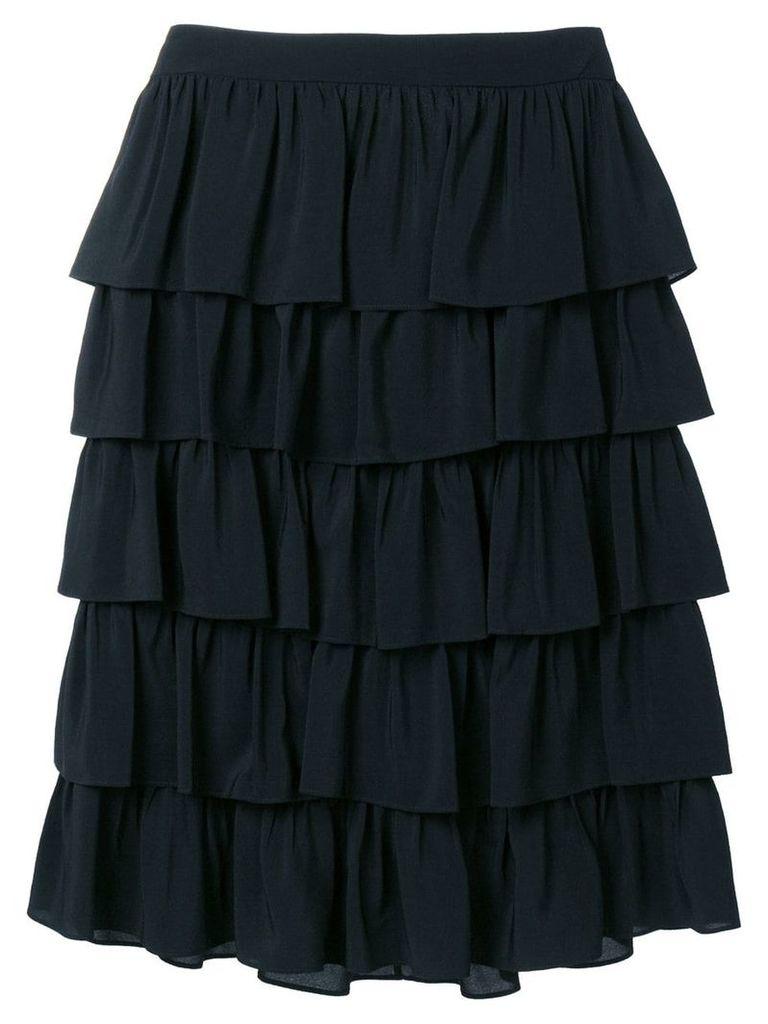 Stella McCartney ruffle midi skirt - Black