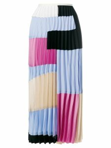 Marni colour block pleated skirt - Multicolour
