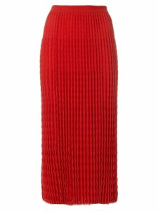 Victoria Beckham pleated knit skirt - Red