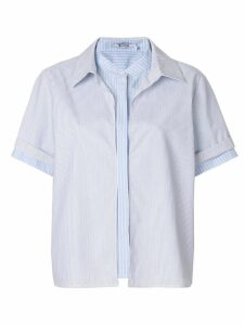 T By Alexander Wang multi stripe blouse - Blue