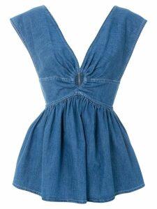 Stella McCartney denim V-neck blouse - Blue